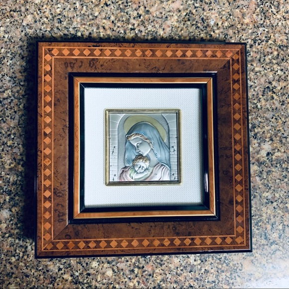 Other - Miniature framed portrait; 925 silver; Italy